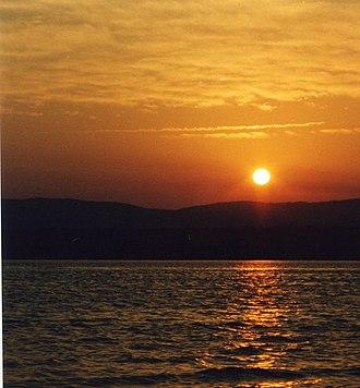 Deer Lake, Newfoundland and Labrador - The sun sets over Deer Lake, Newfoundland, June 2003.