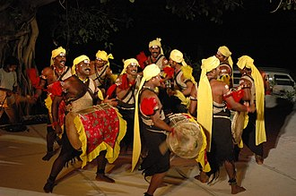 Shimoga district - Dollu Kunitha performance at the Fireflies Festival of Sacred Music.