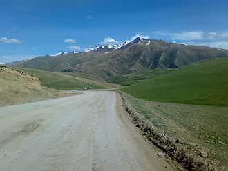 Dolon Pass - Dolon Pass: descend to Naryn town