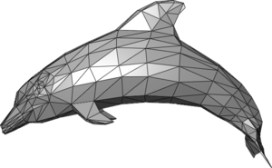 Polygon mesh - Example of a triangle mesh representing a dolphin.