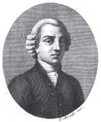 Domenico Lalli - Engraved portrait of Lalli published in 1818