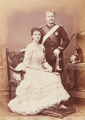 Don Carlos, Duke, and Amélie, Duchess, of Braganza (Duchess eldest daughter of the Count and Countess of Paris), 1886.png