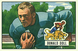 Don Doll - Doll on a 1951 Bowman football card
