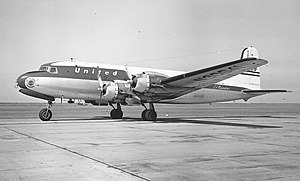 United Airlines Flight 409 - A United Airlines Douglas DC-4, similar to the aircraft involved in the incident