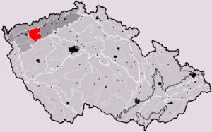 Doupov Mountains - Location of Doupov Mountains in the Czech Republic