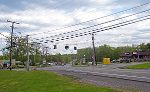 Orange Lake, New York - Center of Orange Lake, looking east along NY 52
