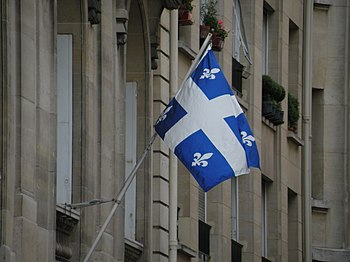 Flag of Quebec on the Quebec Government Office...