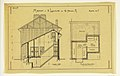 Drawing, Rendering of the Side-Elevation and Basement of a Two Family Mass-operation House (Type No.1), ca. 1921 (CH 18385005).jpg
