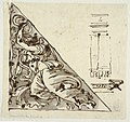 Drawing, Sketch of Victory holding Bowknot and Trumpet; sketches of Wall Section and Stool, 1812 (CH 18109357).jpg
