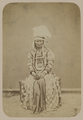 Dress of a Kyrgyz Woman. Everyday Head Scarf. WDL2470.png