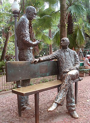 Português: Monumento a Carlos Drummond de Andr...