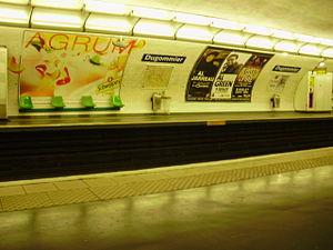 Dugommier (Paris Métro) - Image: Dugommier métro 02