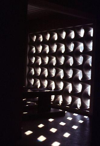 Erwin Hauer - light-diffusing wall design 2 in church in Liesing, Vienna, Austria, 1951