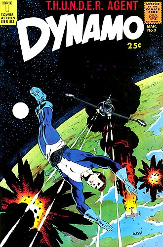 T.H.U.N.D.E.R. Agents - Wally Wood cover for Dynamo number 3 (March, 1967).