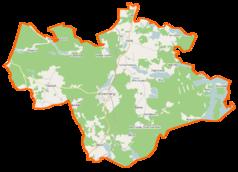 Mapa lokalizacyjna gminy Dziemiany