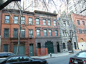 East 73rd Street Historic District - 168–174 East 73rd Street, all former carriage houses on south side, 2009