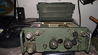 AN/PRC-77 Portable Transceiver - Image: EB 11 RY 20.ERC 110 of the Telefunken do Brasil S.A,DSCF69200