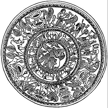EB1911 Plate - Silver Bowl from tomb in Cyprus.jpg
