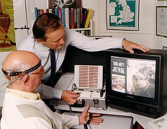 David Lewis (psychologist) - David Lewis measures a subject's responses to a TV commercial in the early 1980s using a specially modified version of the Mind Mirror the first non-medical EEG devise originally developed for neurofeedback by Geoffrey Blundell and Maxwell Cade