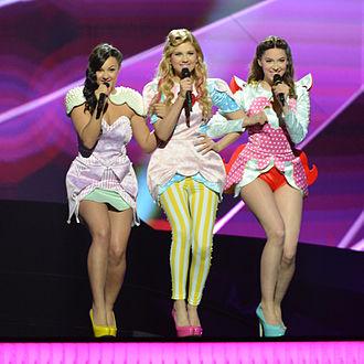 Moje 3 - Moje 3 at the first dress rehearsal in the Eurovision Song Contest 2013. (L–R: Radulović, Božović, Jovanović)