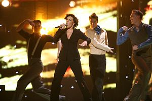 Estonia in the Eurovision Song Contest - Image: ESC 2007 Estonia Gerli Padar Partners in crime