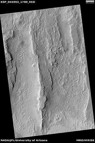 Linear ridge networks - Image: ESP 045992 1780ridges