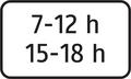 E 12 - Dodatková tabuľka s textom, časové ohraničenie (vzor) 2.png
