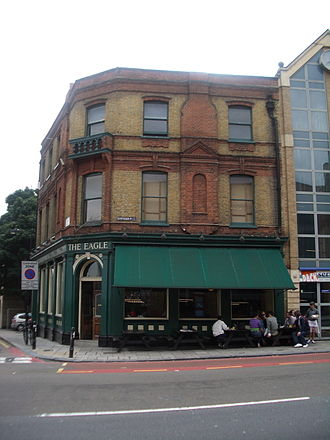 "Gastropub - The Eagle in Clerkenwell, the first pub to which the term ""gastropub"" was applied"