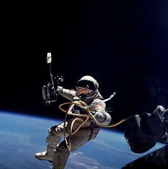Ed White (astronaut) - Another image of Edward White during Gemini 4 performing EVA