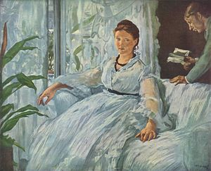 The Reading (Manet painting) - Image: Edouard Manet 005