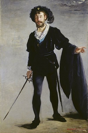 Jean-Baptiste Faure - Jean-Baptiste Faure as Hamlet, painted by Édouard Manet in 1877