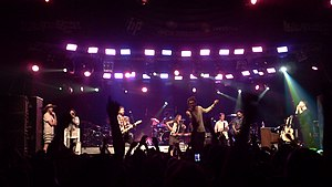 Edward Sharpe and the Magnetic Zeros - The group performing at Lollapalooza Chile in 2011