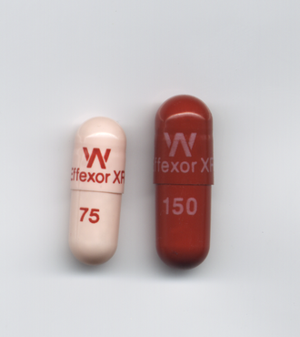 Venlafaxine - Effexor XR 75 mg and 150 mg capsules