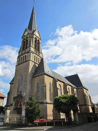 Rédange - The church in Rédange