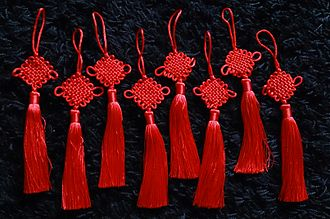 Chinese knotting - Eight examples of one traditional Chinese knot.