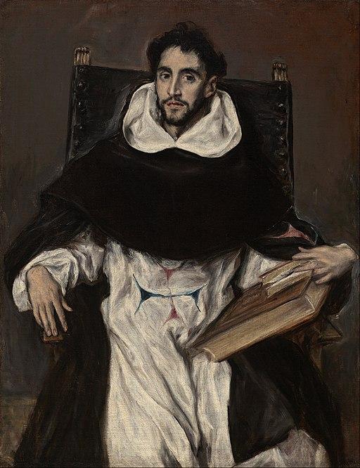 Portrait of Fray Hortensio Félix Paravacino by El Greco