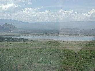 Lake Elmenteita - Lake Elmenteita from the Nairobi-Nakuru highway