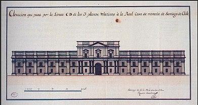 Elevacion de la Real Casa de Moneda en Santiago de Chile, por Toesca.jpg