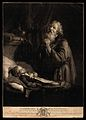 Elijah prays to raise the widow's son. Mezzotint by R. Earlo Wellcome V0034316.jpg