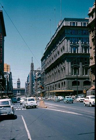 Elizabeth Street, Melbourne - Elizabeth Street, Melbourne circa 1960