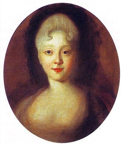 Портрет юной Елизаветы. Иван Никитин, 1720-е годы.