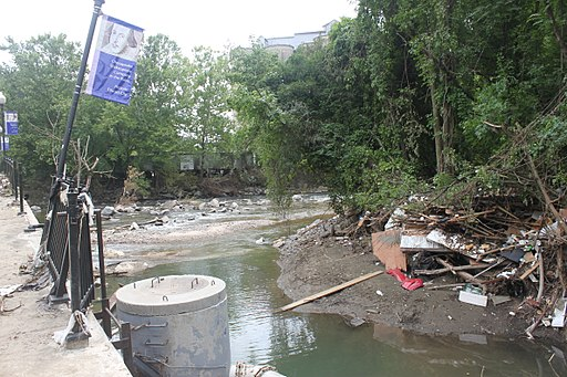 Ellicott City Flood Recovery, Patapsco River (29376019606)
