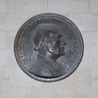 Odysseas Elytis på en plakette i den venetianske loge i hans hjemsted Heraklion.