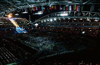 2000 Summer Olympics opening ceremony - Image: End of 2000 Summer Olympics opening ceremony