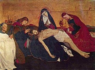 Enguerrand Quarton - Image: Enguerrand Quarton, La Pietà de Villeneuve lès Avignon (c. 1455)