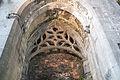 Ennis Friary Tower South Arch Tracery Canopy 2015 09 03.jpg