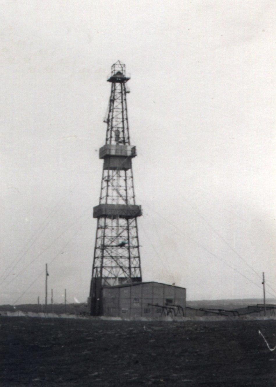 Erdölbohrturm Hiddensee 1967
