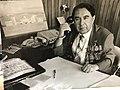 Erkin Turdievich Shaykhov in his office.jpg