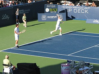 2009 Indianapolis Tennis Championships - Ernests Gulbis and Dmitry Tursunov partnered to their first doubles title together.