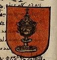 Escudo da Galiza no Blasson de armas de todos los reyes... (séc. XVI).jpg